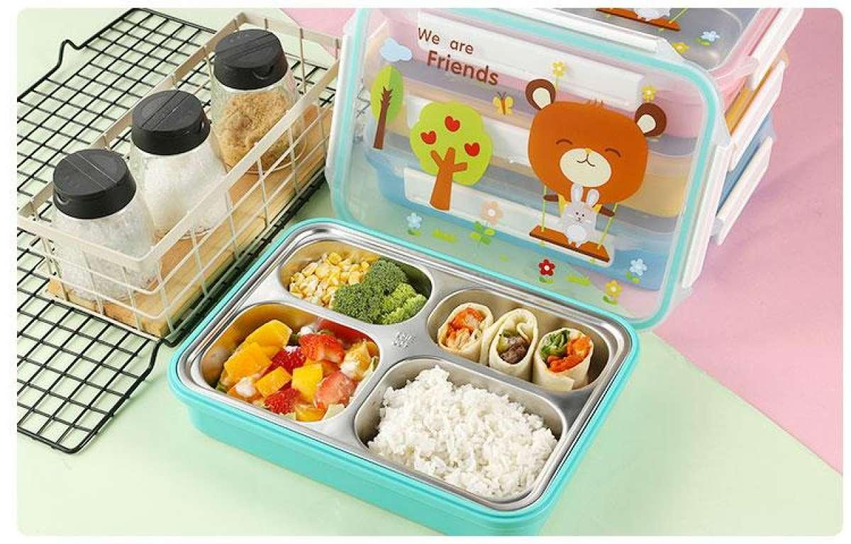 ad6073474a ONEUP lunch box for kids 304 leak-proof stainless steel lovely cartoon  insulation bento box