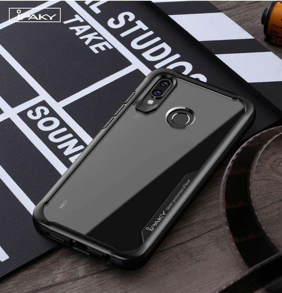 Redmi Note 7 Cover, Note7 Pro Cover, IPAKY Original Shockproof Phone Case  For Redmi Note 7 Cover, Redmi Note7 Pro cover, Luxury Transparent Silicon