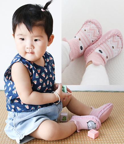 Girls Toddler  Toddler Indoor Sock Kids Booties Flats Soft Slippers Baby Shoes