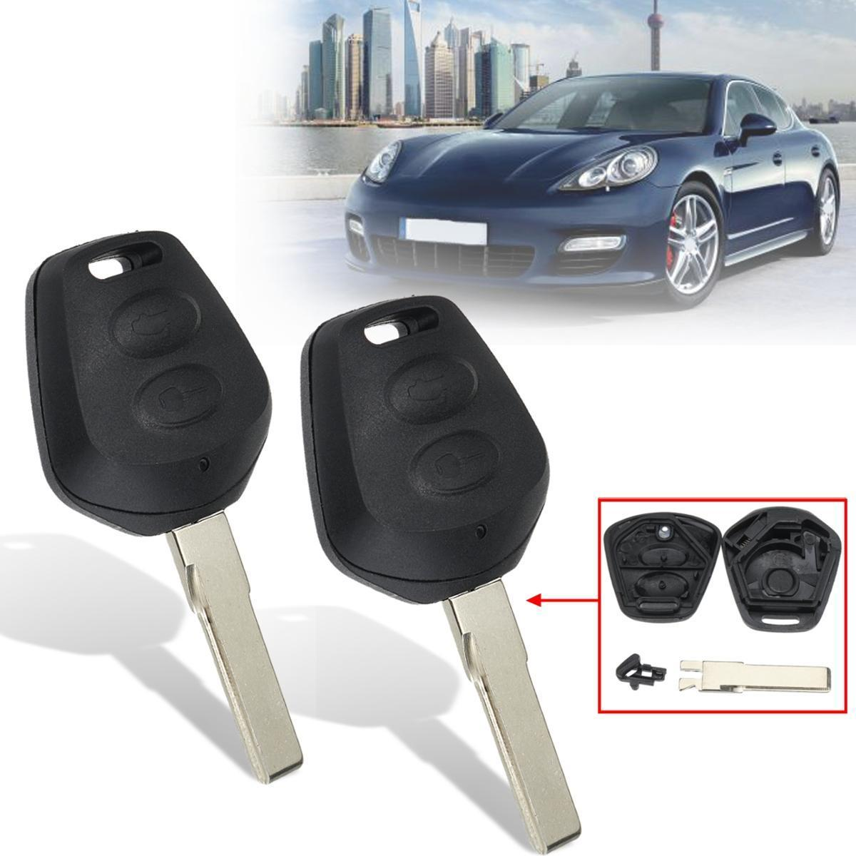 2Pcs 2 Buttons Remote Key Fob Case Shell For Porsche Boxster S 986 911 996
