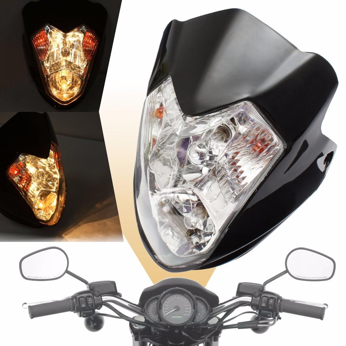 Streetfighter Headlight Lamp Black Motorcycle Bike Fairing Spyder Street Fighte Buy Online At Best Prices In Bangladesh Daraz Com Bd