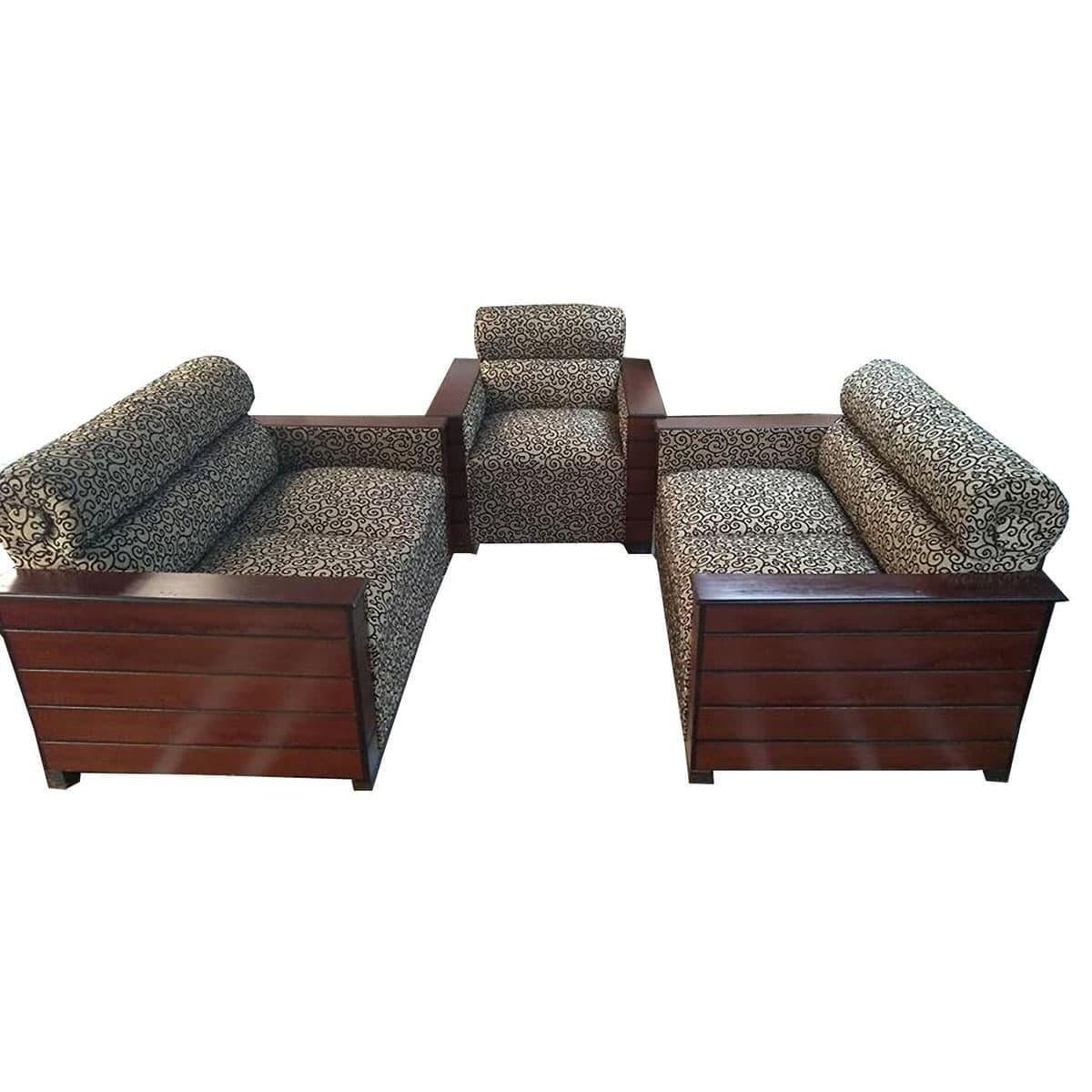 Superb Sa 389 Box Design Wooden Sofa Set Brown And Black Caraccident5 Cool Chair Designs And Ideas Caraccident5Info
