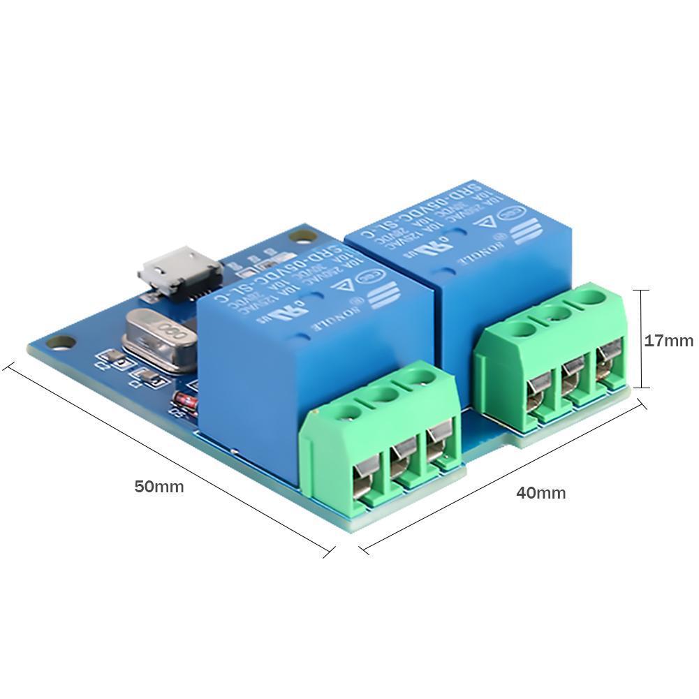 LCUS-2 5V 2 Channel USB Relay Module CH340 USB Intelligent Control Switch