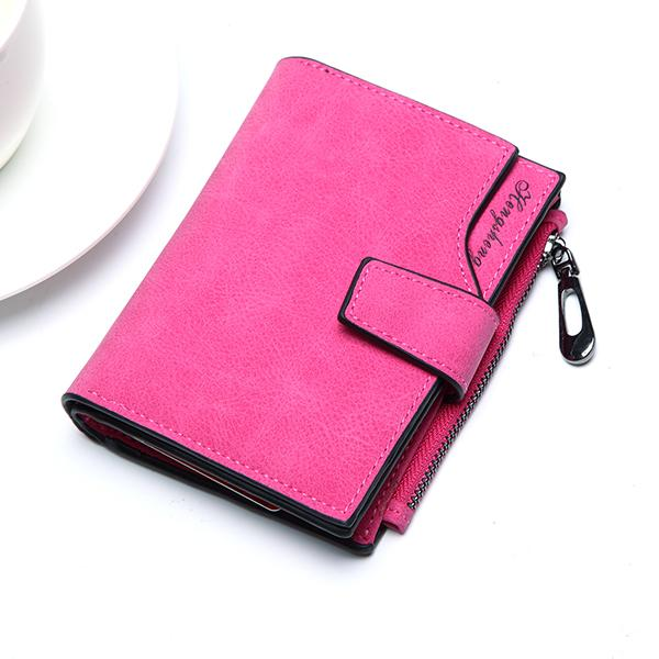 14080a2b0ec8 AEQUEEN Fashion Leather Short Wallet Women Wallets Female Purse Small  Credit Card Holder Coin Purses Ladies