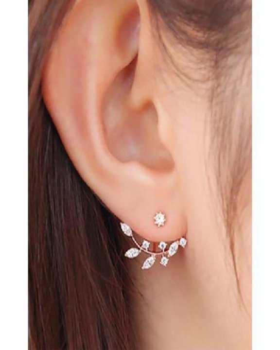 Women Crystal Water Drop Stud Earrings Exquisite Ear Accessories