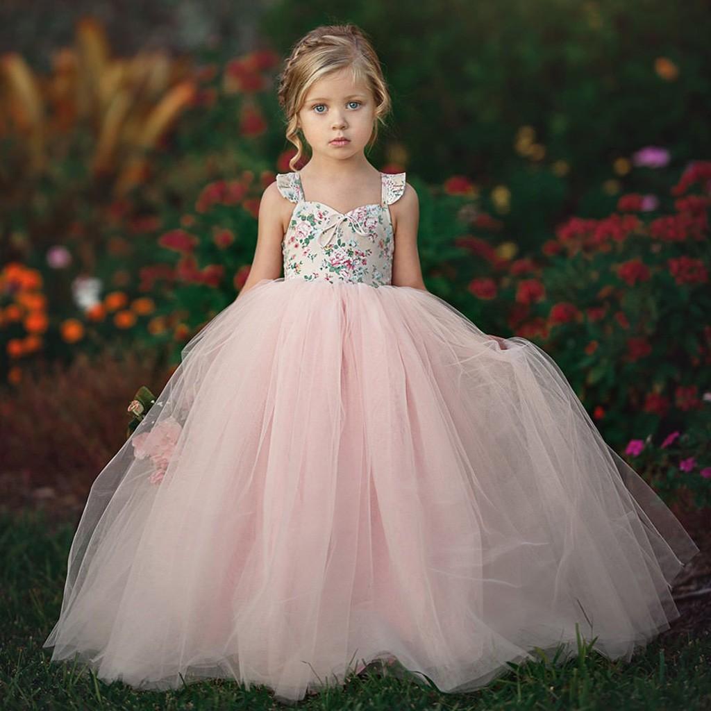 44105612f70 BlingBlingStar Children Kids Girls Sleeveless Fancy Wedding Bridesmaid Gown  Formal Dresses