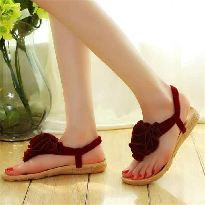 6a621c47b162 Women Flower Summer Bohemia Sweet Sandals