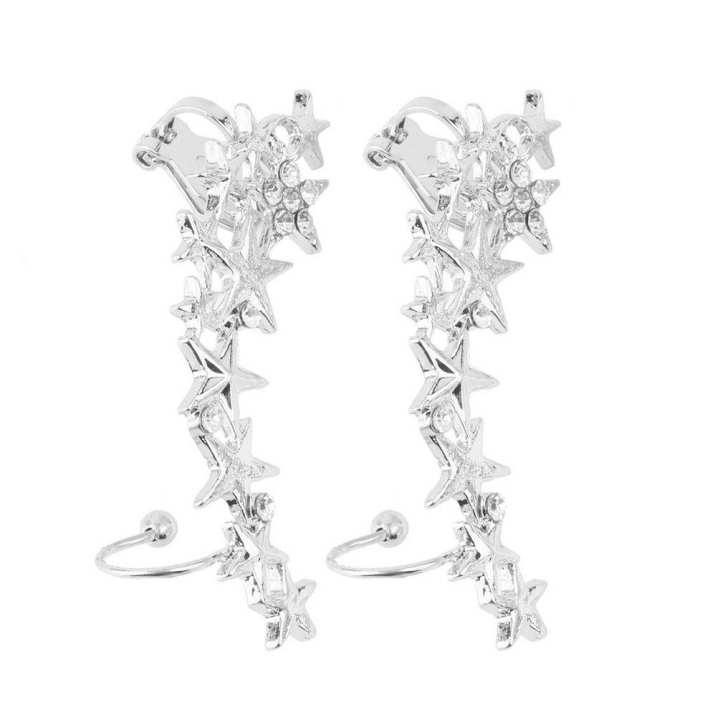 UR 1 Pair Fashion Star Ear Bone Clip On Ear Cuff Earrings No Pierce