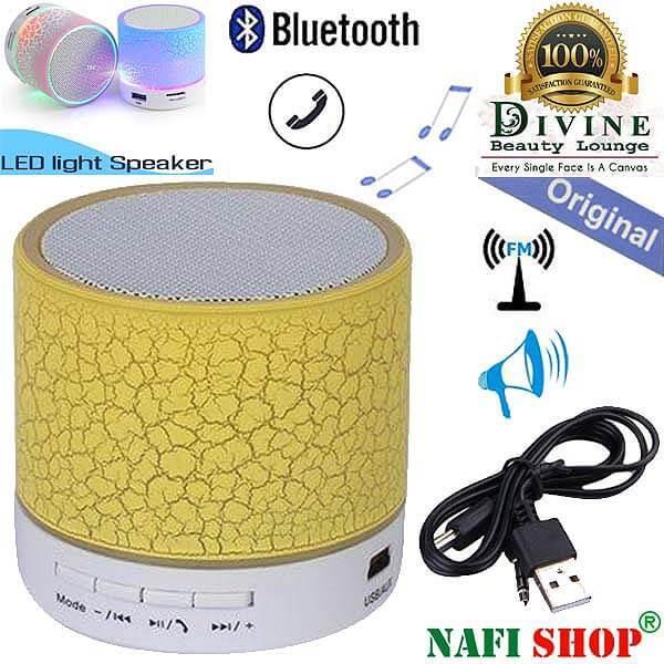 LED Light USB Wireless Bluetooth Mini Speaker with MP3/FM Radio/SD Card Slot