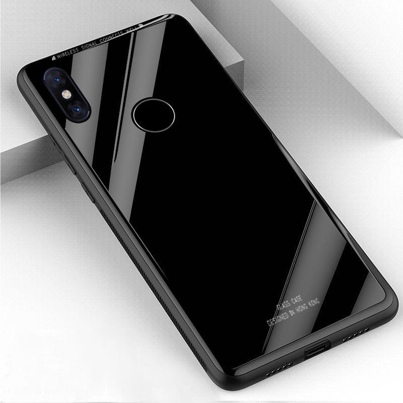 buy popular 5b2df 18340 Tempered Glass Back Cover for Xiaomi Redmi Y2