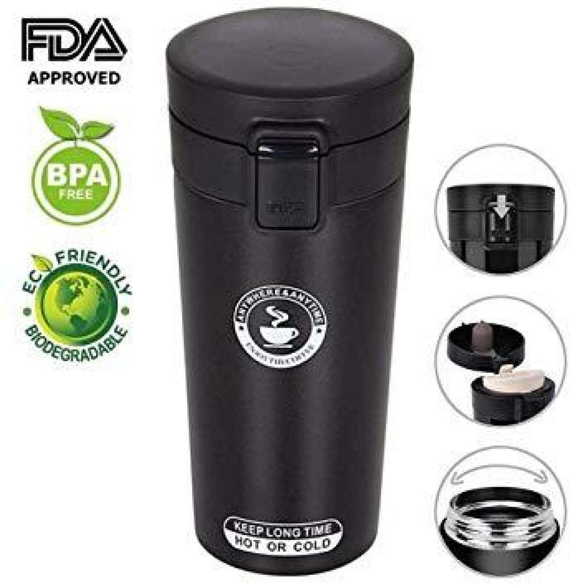 3a1a07bb28f UNIVERSAL 304 Stainless Steel Thermo Cup Travel Coffee Mug Thermos Vacuum Thermal  Mug Flask Cups And