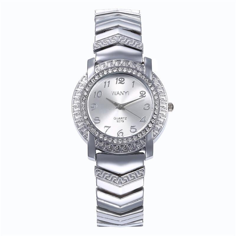 375925059 Poruis Women's Watch Rhinestone Quartz Bracelet Stainless Steel Water  Resistant Quartz Casual