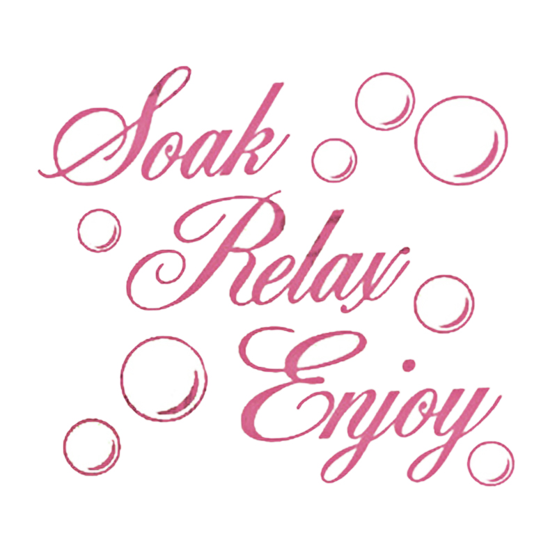 Soak Relax Enjoy Bathroom Wall Art Sticker Pvc Decal Home Art Decoration Pink Buy Online At Best Prices In Bangladesh Daraz Com Bd