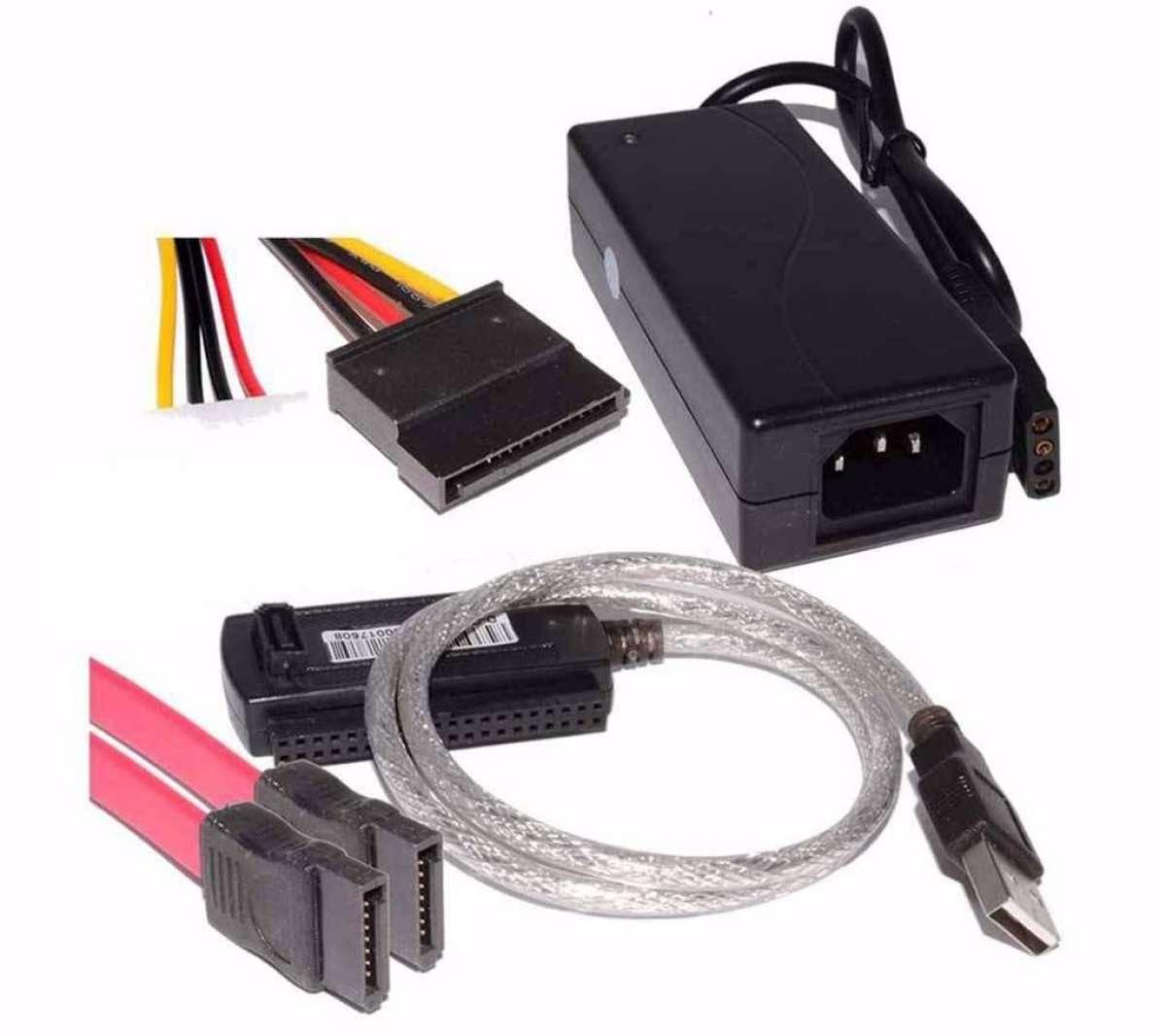 USB 2 0 To SATA & IDE Adapter Cable 3 5 and 2 5