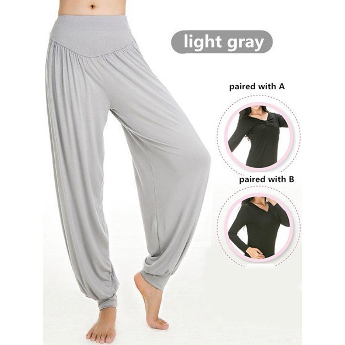 c2450e8e373 Women Professional Fitness Dancing Yoga Pants Jogging Running Sport Long  Trousers Loose Modal Cotton Sport Trousers