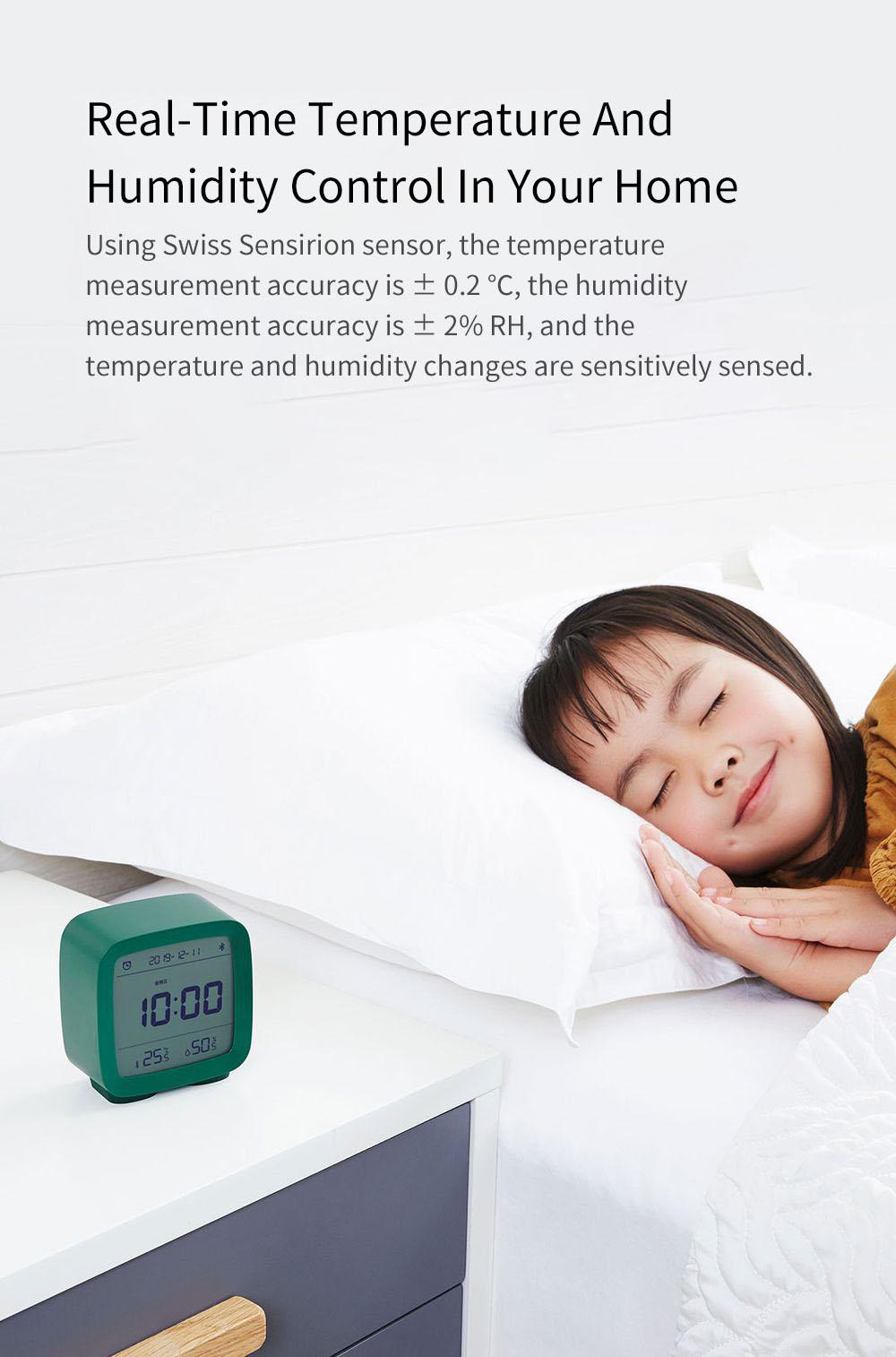 Xiaomi Youpin Qingping Mijia Bluetooth Alarm Clock Alarm Clock Temperature 6