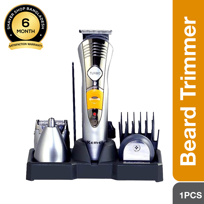 Kemei KM-580A 7-in-1 Beard trimmer & Hair clipper with nose trimmer for men