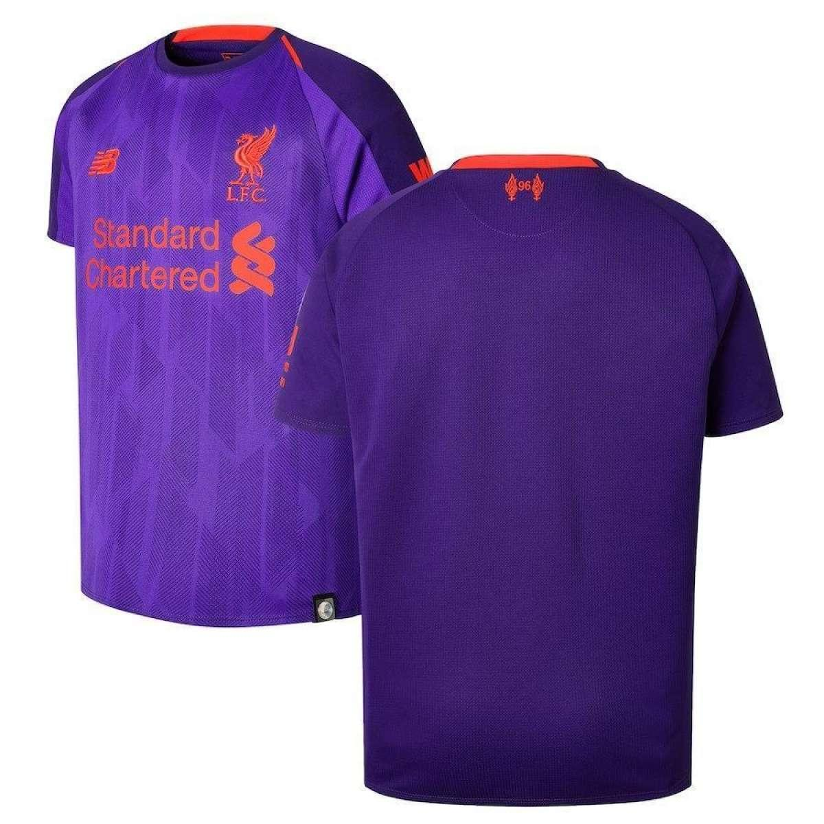 new style 16462 271e9 2018-19 Liverpool Away Short Sleeve Jersey (Thailand) - Purple