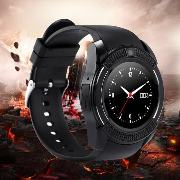 Original V8 Smart Watch For iOS and Android Mobile -Black