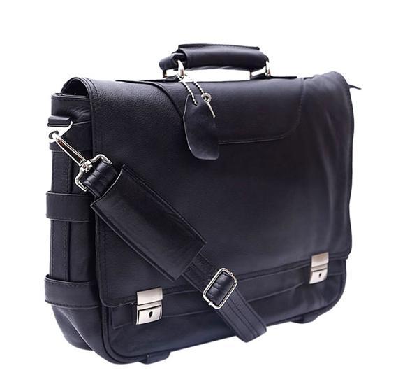 784db3da3c71 Leather Shoulder Official   Laptop Bag For Men -Black   Chocolate