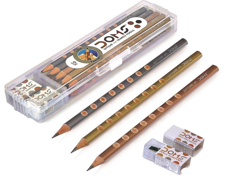 Dark Writing 10 Doms Zoom ULTIMATE Dark Triangle Pencil free sharpener eraser
