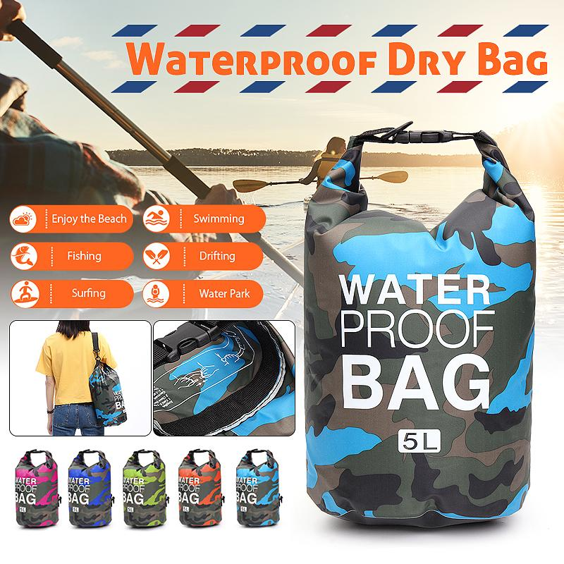 1f9bee297f22 5L Sports Portrable Sports Outdoor Waterproof Dry Bag Sack Rucksacks Pouch  Canoe Kayak Boating Swimming - Orange