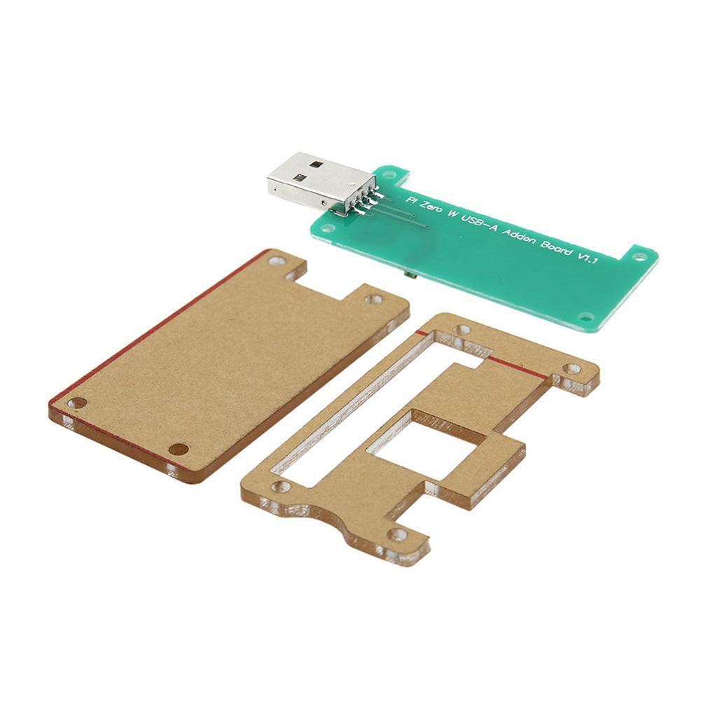 Acrylic Case+Raspberry Pi Zero W USB-A Addon Badusb Board for Raspberry Pi