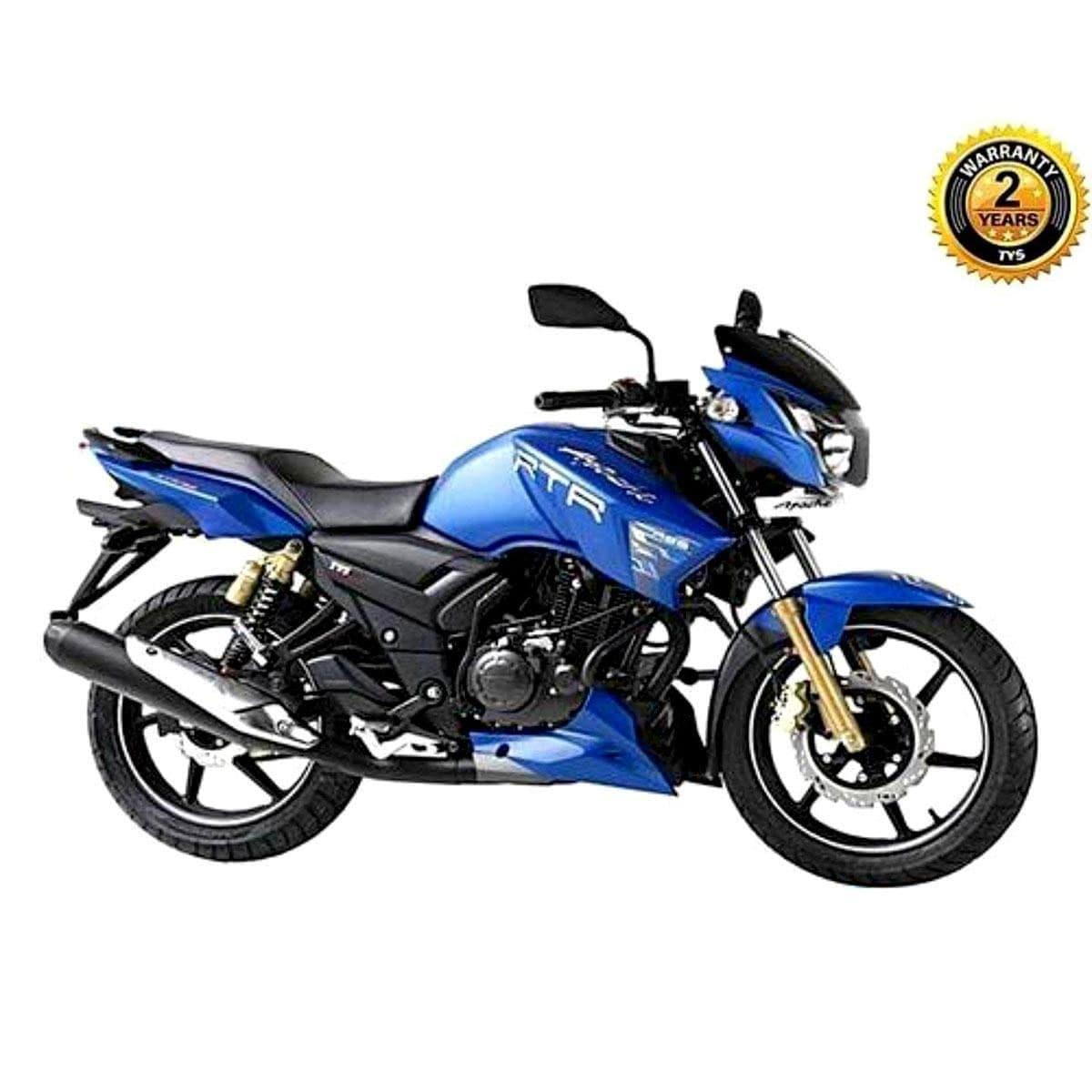 Apache RTR 160CC Motor Cycle (SD) - Blue