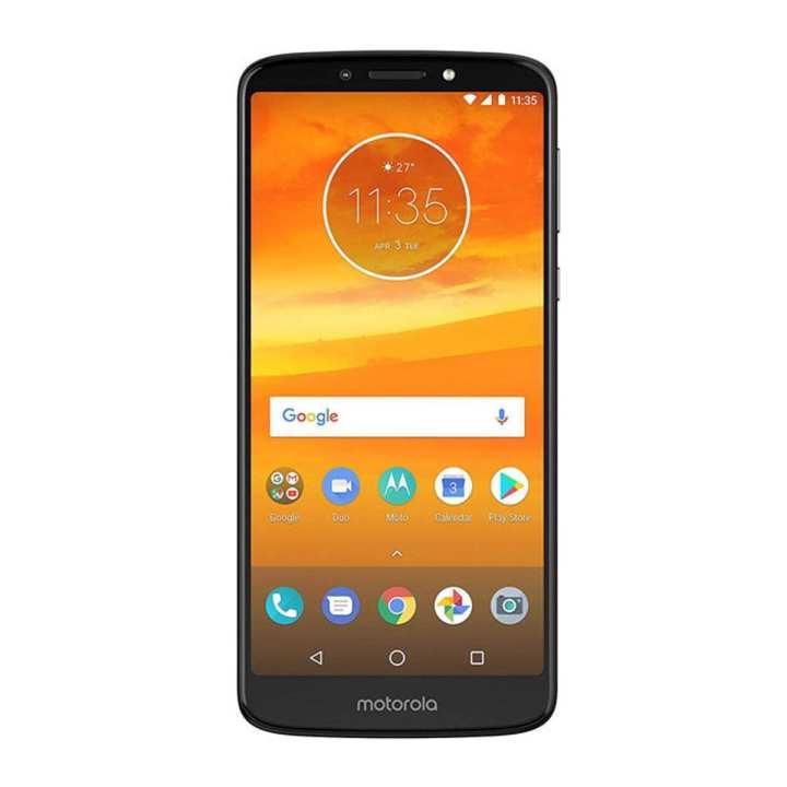 "Motorola E5 Plus 6"" - 3GB RAM - 12MP Front Camera - Black"