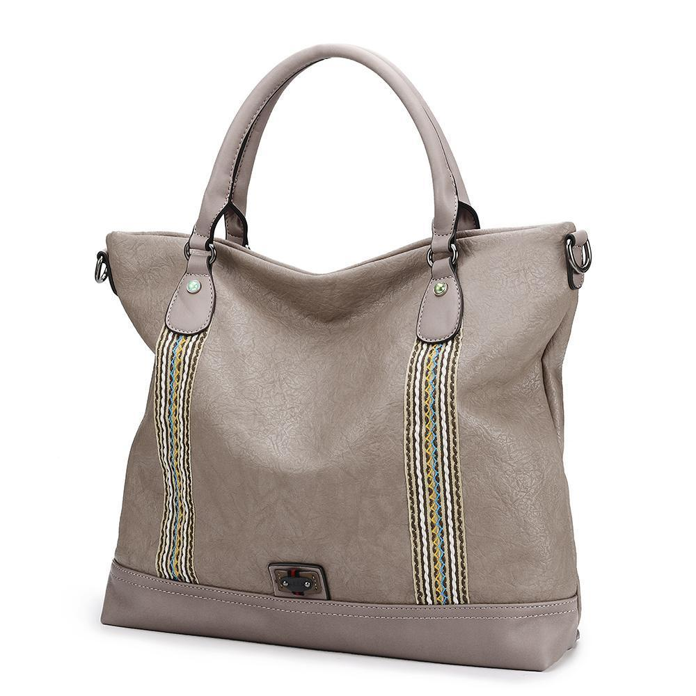 212dd81203 Brenice Soft Leather Woven Stitching Tote Bag Handbag Large Capacity  Crossbody Bag For Women  Buy Online at Best Prices in Bangladesh