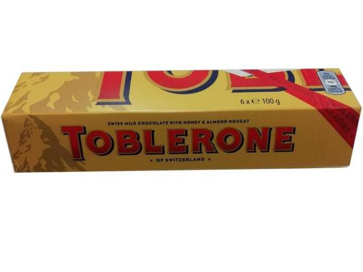 Toblerone Chocolate 100gm x 6pcs  (Switzerland)
