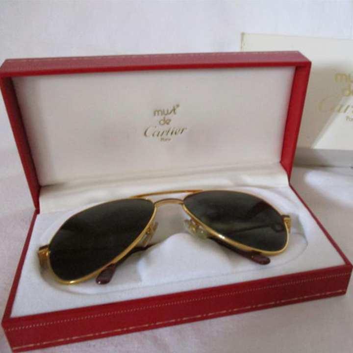 Golden and Black Alloy Sunglasses for Men