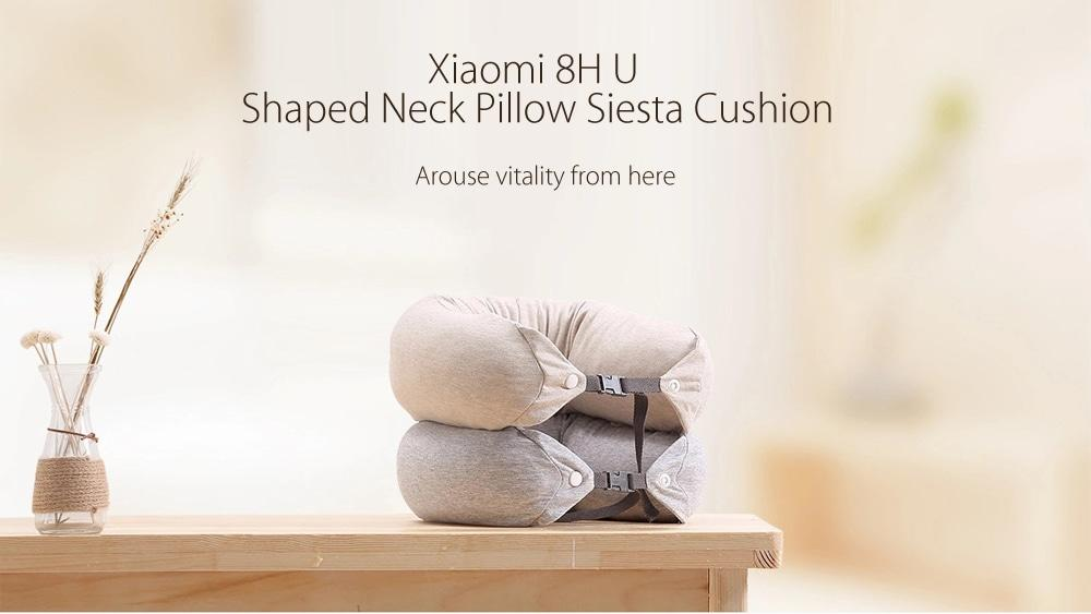 Xiaomi 8H Soft U Shaped Neck Protection Pillow for Travel- BEIGE BLONDE