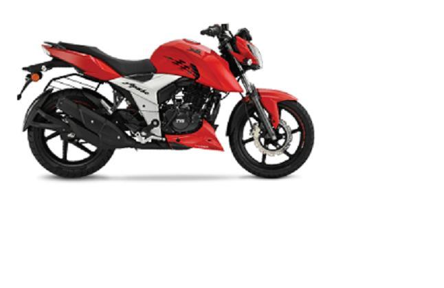 TVS Apache RTR 160CC 4V Motor Cycle (SD) (Carb) - Red