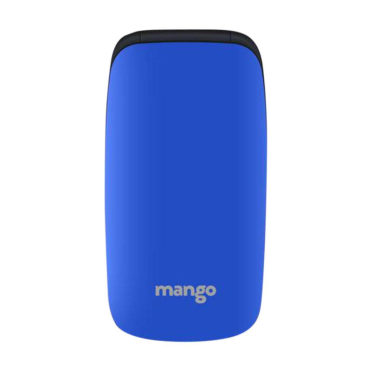 Mango MF1 - Folding Feature Phone - Money Detector - MTK Chipset - Dual SIM  - 0 3MP Camera - Blue