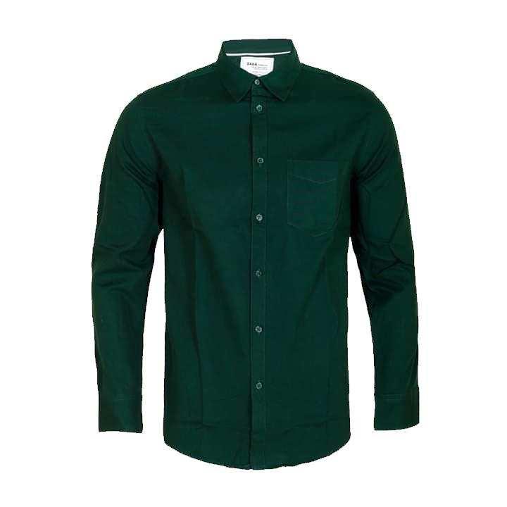 Dark Green  Long Sleeve Casual Shirt for Men