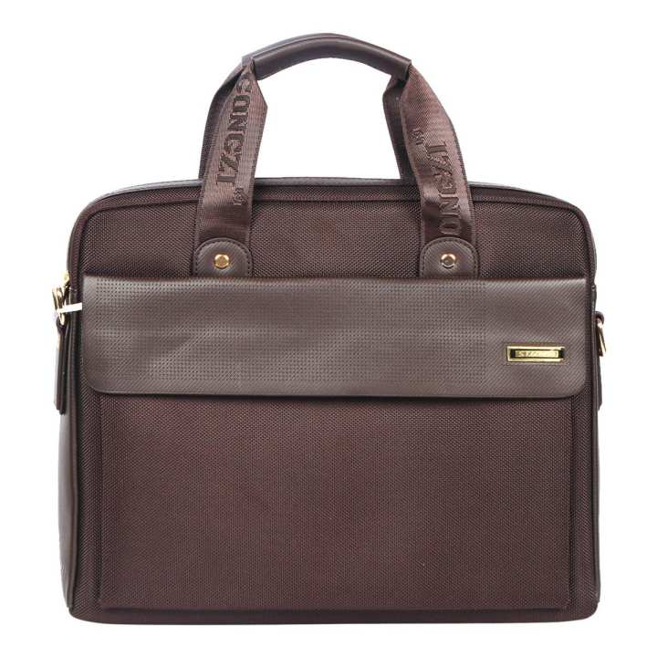 Chocolate Polyester Office Bag for Men