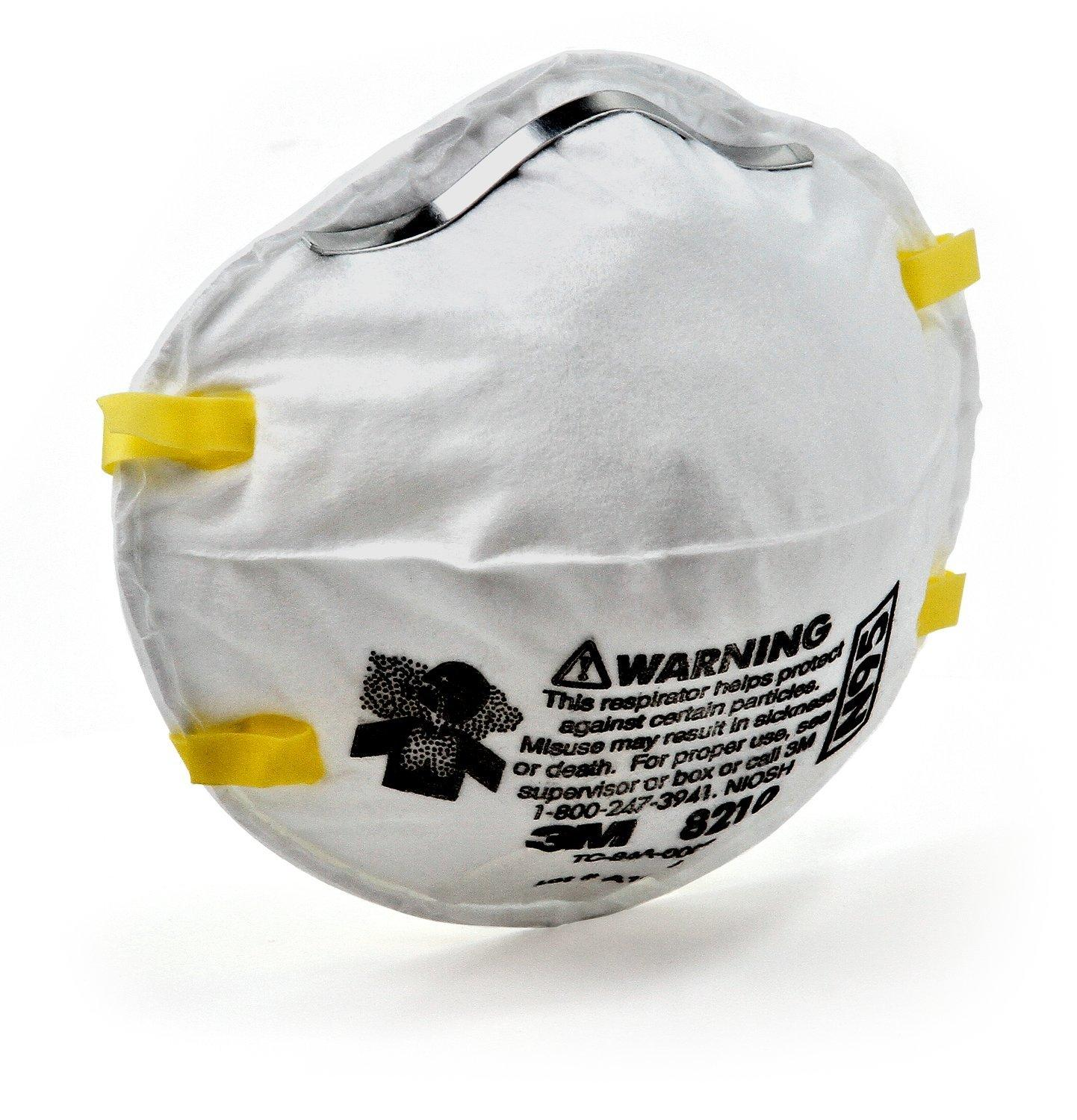Approved N95 By Particulate Mask Respirator Of Niosh 8210 Pack 3m 1
