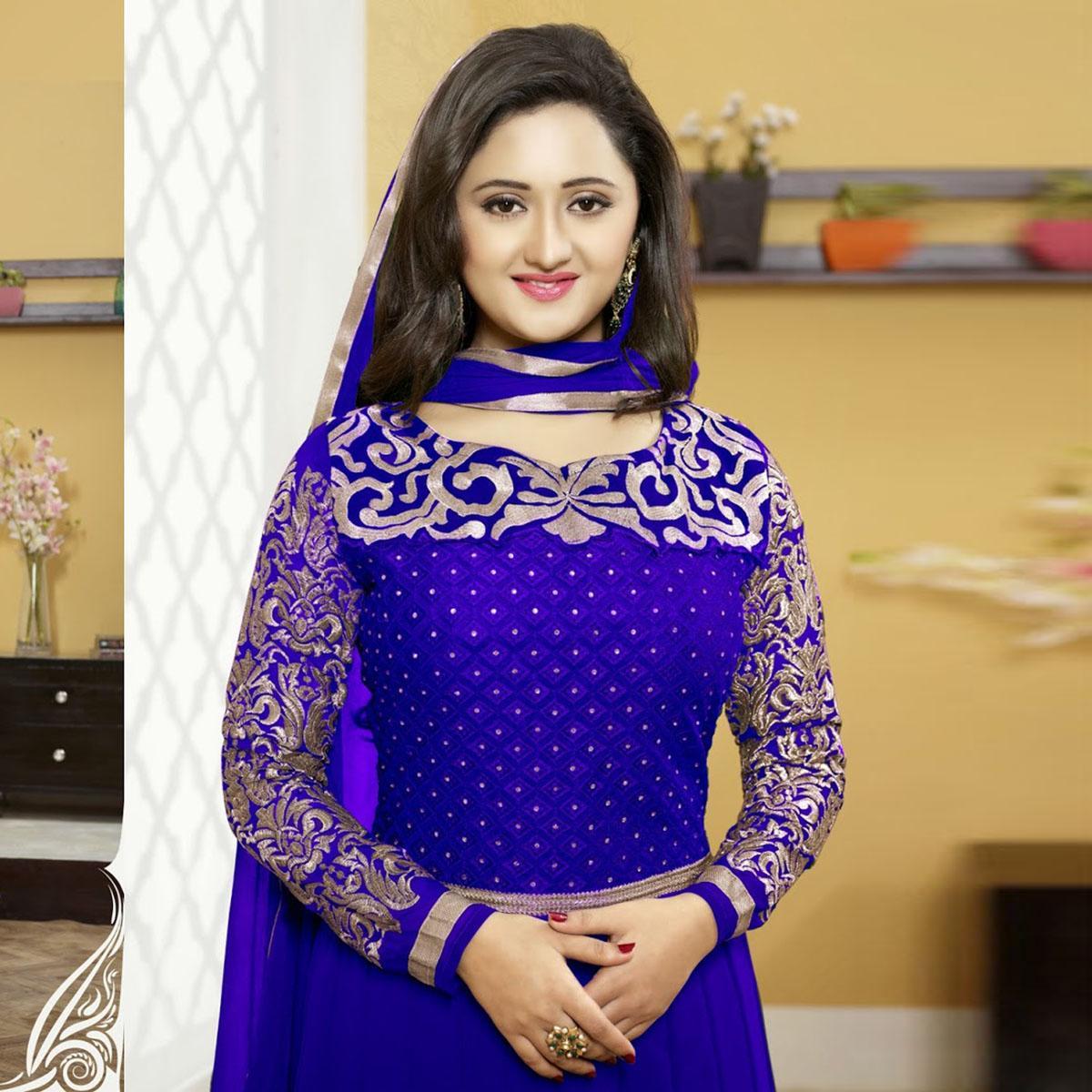 f1b7ad42 Blue Cotton Salwar kameez for Women