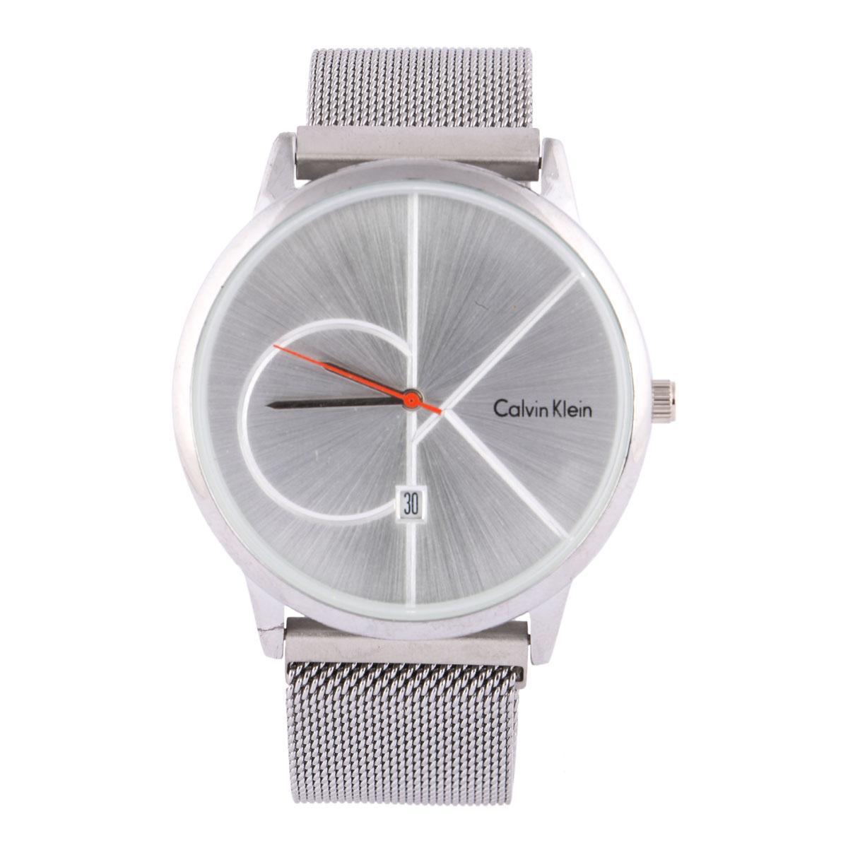 45e29acc7d1 Slim Elegant-looking Calvin Klein Brand Analog Grey Dial Men s Watch With  nice Grey Magnet